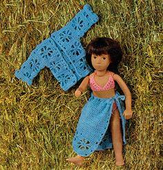 PDF Vintage 1970s Sasha Doll Clothes Crochet Pattern, Lacy Jacket, Bikini, Sarong, Sheena, Miss Selfridge, Teen Doll,  Fashion Dollx