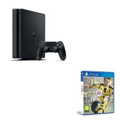 Console Sony PS4 Slim 1 To + FIFA 17 PS4 prix Console FNAC pas cher 349.90 € TTC au lieu de 419.80 € Ps4 Console, Sony Ps4, Fifa 17, Consoles, Slim, Cher, Sports, Video Games, Toys