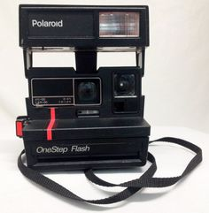 Vintage Polaroid OneStep Flash 600 Red Stripe by TheclickEmart