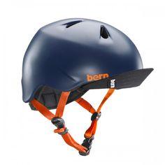 Bern's navy matte bike helmet for kids