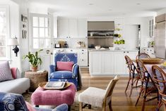Pink, White, and Blue | Bold Solidscountryliving