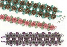 Beautiful beaded bracelet and pattern for it!