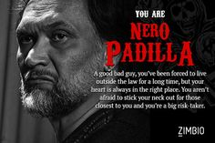 I took Zimbio's 'Sons of Anarchy' character quiz and I'm Nero Padilla! Who are you?