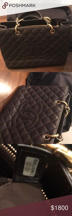 Chanel shopper tote Chocolate brown. Shopper. Excellent Condition. CHANEL Bags Totes