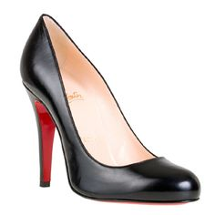 blue louboutins sneakers - christian louboutin Ron Ron 100 round-toe pumps Black patent ...