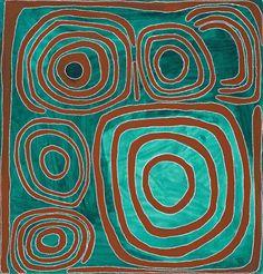 Aboriginal art by Mawukura Jimmy Nerimah ~ Untitled, 2000 Aboriginal Painting, Dot Painting, Silk Painting, Aboriginal Artists, Encaustic Painting, Indigenous Australian Art, Indigenous Art, Arte Tribal, Tribal Art