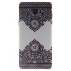 COQUE - BUMPER coque Samsung Galaxy A5 A510 (2016) mde Noir Blanc fleur Silicone…