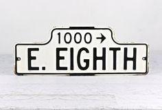 Street Sign, Porcelain Street Sign, Vintage Street Sign, Industrial Decor by HuntandFound on Etsy