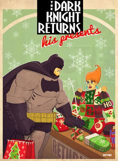 The Dark Knight returns...his presents by Marco D'Alfonso