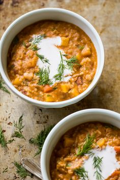 Heirloom Bean Stew With Dill and Coconut Cream #recipe #stew #healthy