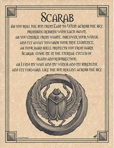 Scarab Shaman Poster Prayer Animal Spirit Guide Art Egyptian Wicca | eBay