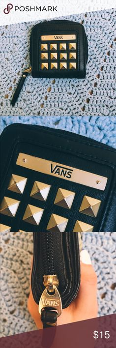 ☾vans wallet has a coin pouch, money pouch, and card holder. super cute & grunge. never really used it. Vans Accessories Key & Card Holders