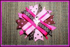 Ballerina Hair Bow by Sammy Banany's Hair Bows   Perfect recital gift for your ballerina.    Repin if you like it!