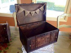 Rustic Wedding Card BoxBurlap Banner. by ladedadesign on Etsy, $54.99