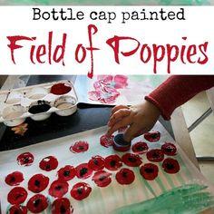 Field of Poppies Art for Kids bottle-cap-painted-po. - - Field of Poppies Art for Kids bottle-cap-painted-po… Remembrance Day Poems, Remembrance Day Activities, Remembrance Poppy, Bottle Cap Art, Bottle Cap Crafts, Poppy Craft For Kids, Art For Kids, Nursery Activities, Activities For Kids