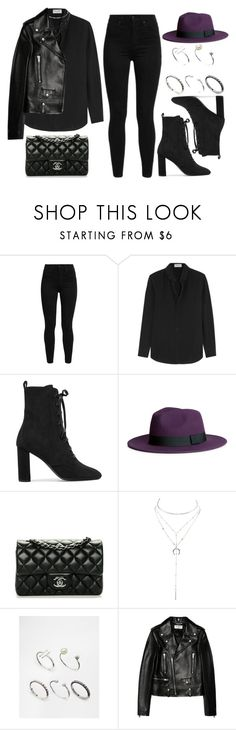 """""""#13889"""" by vany-alvarado ❤ liked on Polyvore featuring Levi's, Yves Saint Laurent, H&M, Chanel, Charlotte Russe and ASOS"""