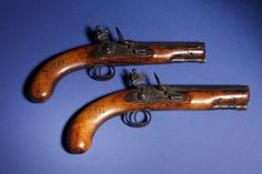 Pistols used by the poet during his excise duties...
