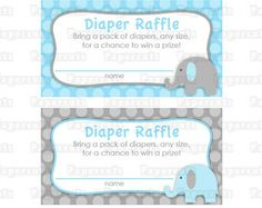 Free Printable Elephant Diaper Raffle | Popular Items For Shower Diapers On  Etsy
