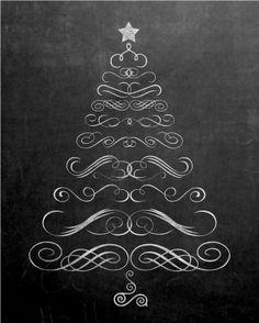 printable chalkboard christmas tree (http://www.yellowblissroad.com/free-printable-chalkboard-christmas-tree/)