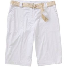 White Stag Women's Woven Belted Shorts, Size: 6