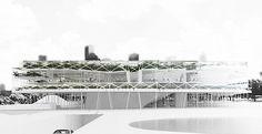 Pilotis and internal green spaces make