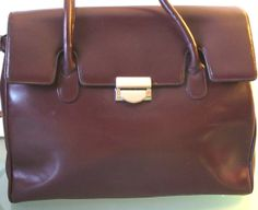 Vintage Made in Italy Oxblood Kelly Bag GMKN by EurotrashItaly, $79.99