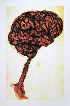 Halloween BRAINS Hand Pulled Four Color Lithograph by ANKarabin, $35.00