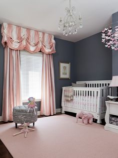 Simply pink with hints of gray and white.