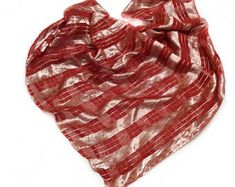 Red Silk shawl, Valentine Gift for her, Holiday gift for Friends  Cancer patient gift, Sparkly head scarves Last minute gifts ready to ship by blingscarves. Explore more products on http://blingscarves.etsy.com