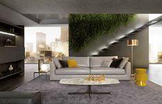 Mauro Lipparini hat für MisuraEmme das Sofa Phoenix gestaltet. Seine perfekte Form mutet sehr klassisch an. Phoenix kann flexibel erweitert werden. © MisuraEmme Sofa Design, Sofas, House 2, Leather Sofa, Seat Cushions, Contemporary Design, Relax, Couch, Living Room