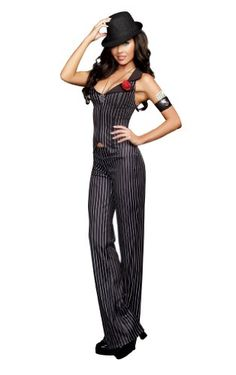 Discover an incredible selection of costumes for women at Party City. Get the latest female costume looks from TV and film, Halloween classics, DIY kits and more. Gangster Fancy Dress, Gangster Party, Gangster Style, Trajes Zoot, Gangster Halloween Costumes, Halloween 2019, Mafia Outfit, Fancy Dress Ball, Hallowen Ideas