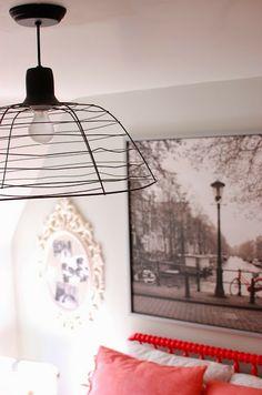 DIY basket light for laundry room