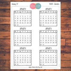 One sheet of Bullet Journal Calendar stickers! Pick your month, or buy all 12 months in a pack! Calendars are all 2017. These planner stickers are designed to fit your Bullet Journal but also fit various planners including but not limited to Erin Condren, Happy Planner, Day Designer,
