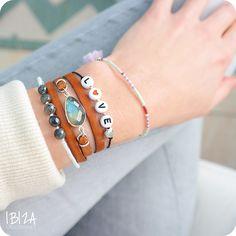 Handgemaakte Armbanden Setje Zilver ♡ available at www.ibizamusthaves.nl