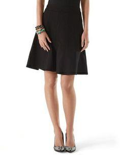 Paneled Ponte Skirt on shopstyle.com