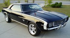 MY. DREAM. CAR. -- I want to restore it with my bare hands alongside with my dad. Solid Black Granite Metallic, over a dozen coats of clear .... Turquoise or Pale Pink Leather interior .... chromed. ♥