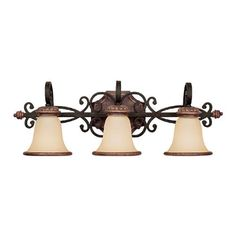 Capital Lighting 1073IU-252R Fox borough Collection 3-Light Vanity Fixture, Iron and Umber Finish with Mist Scavo Glass by Capital Lighting. $196.15. Capital Lighting 1073IU-252R Fox borough Collection 3-Light Vanity Fixture features an Iron and Umber finish complemented by Mist Scavo glass in a traditional design sure to delight for years to come with any decor. The 1073IU-252R is 29.5-Inch wide by 10.25-Inch high by 8.5-Inch extension, and requires three 100-Watt medium b...