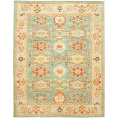 Safavieh Heritage Light Blue/Ivory 8 ft. 3 in. x 11 ft. Area Rug-HG734A-9 - The Home Depot