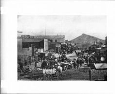 Busy main street in Goldfield, Nevada, ca.1905 :: California Historical Society Collection, 1860-1960