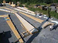 Edificación industrial Serrería Alemán, Navarra. Estructura tri-articulada de madera laminada de Abeto
