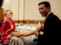 Pin for Later: 150+ Supersexy Moments to Get You Excited For the VS Fashion Show  Mario Lopez gave Karolina Kurkova a foot rub backstage in 2007.