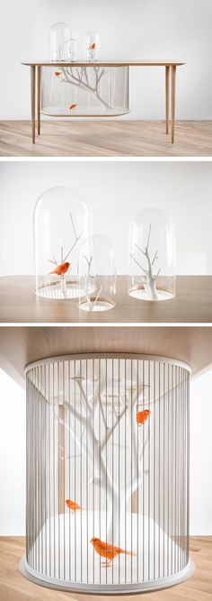 Birdcage Table by French interior architect and designer Grégroire de., The bird cage is equally a home for the birds and a decorative tool. You can pick whatever you want on the list of bird cage designs and get far more unique images. Cool Furniture, Furniture Design, Furniture Outlet, Furniture Stores, French Interior, Scandinavian Interior, Contemporary Interior, My New Room, Interiores Design