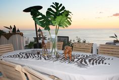 loving the outside decor specifically for this safari themed engagement party