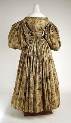 Dress (image 2 - back) | American | 1832 | cotton | Metropolitan Museum of Art | Accession Number: 11.60.228