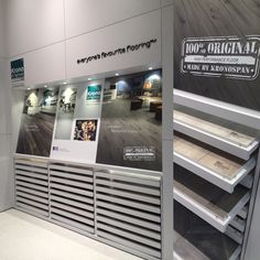 A selection of highly durable #flooring for commercial use from Krono Original.   #Kronospan #Euroshop #Dusseldorf #Germany #retail #retaildesign #design #parquet #architecture #кроношпан #дизайн #архитектура