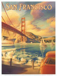 Vintage travel posters - San Francisco #travel @TravelRumors