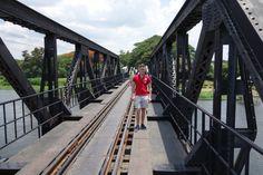 Historical tour at the bridge over the river kwai, kanchanaburi, thailand.
