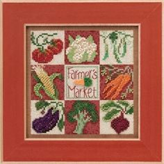 "MH143103 - Farmer's Market (2013) - Mill Hill - Buttons and Bead Kits - Spring Series Kit Includes: Beads, ceramic button, perforated paper, needles, floss, chart and instructions. 6"" x 6"" Mill Hill frame GBFRM13 sold separately Size: 5"" x 5"""