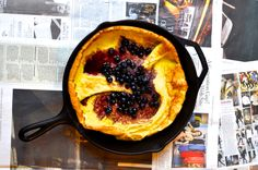 By food contributor Sarah This Blueberry Dutch Baby Pancake is one of my favorite breakfasts because it requires simple ingredients I'm willing to bet are already in your kitchen. It turns out beau...