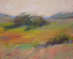 Summer Creek Landscape Original Pastel by Karen Margulis